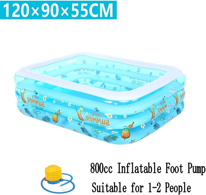 ventas en linea Pequeña piscina inflable de la piscina piscina piscina de la piscina de la piscina de la piscina de la piscina de la piscina de la piscina para el Niño   bebé   la familia con el pie   la bomba eléctrica Conveniente para 1-2 personas (120  90  55cm) ( Edición   Foot Pu  tienda de ventas outlet