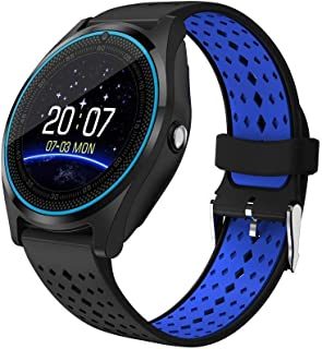 BACKET V9 Bluetooth Smartwatch with Camera and SIM Card Support, Apps, Pedometer, Sedentary Remind and Sleep Monitoring fo...