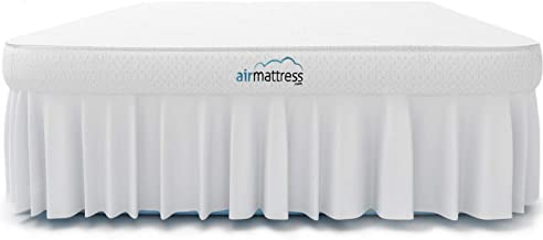 Air Mattress - Best Choice Raised Inflatable Bed with Fitted Sheet and Bed Skirt - Built-in High Capacity Airbed Pump