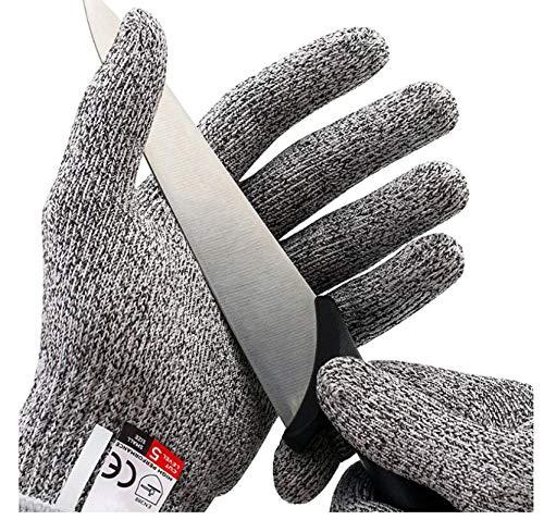 2 Paar Snijbestendige Handschoenen Hoge Prestatieniveau 5 Bescherming Roestvrijstalen Mes Keuken Slager Snijbestendige Veiligheidshandschoenen Gereedschap-A