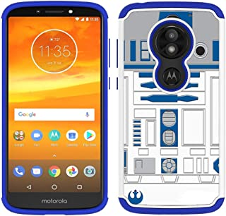 Moto E5 Play Case, Moto E5 Cruise Case - R2D2 Astromech Droid Robot Pattern Shock-Absorption Hard PC and Inner Silicone Hybrid Dual Layer Armor Defender Case Cover for Motorola Moto E Play 5th Gen