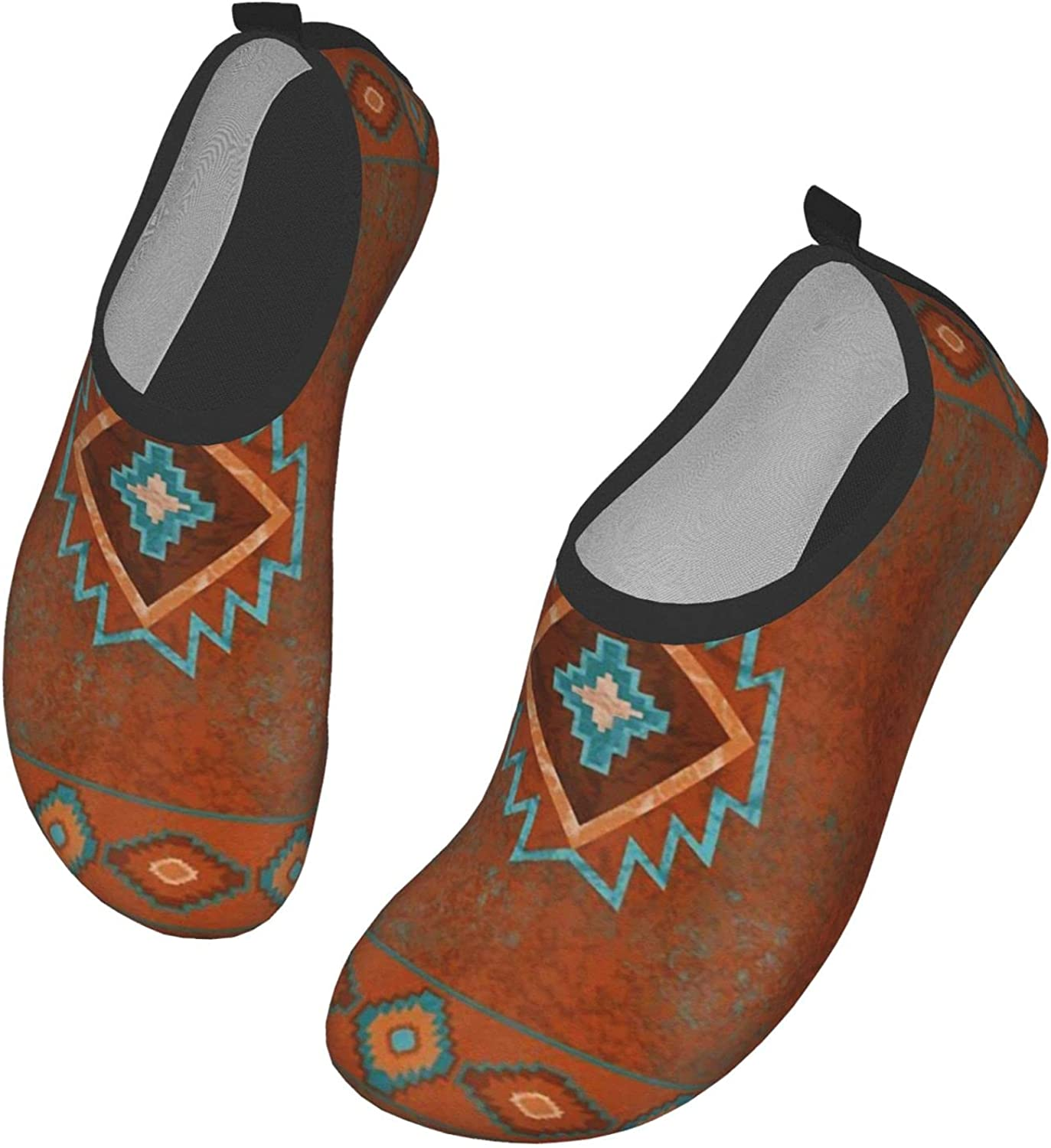 Yaiyilin Traditional Ethnic Pattern Water Shoes Mens Womens Wading Shoe Quick Dry Barefoot Swim Beach Shoes for Pool Yoga Surfs Exercise