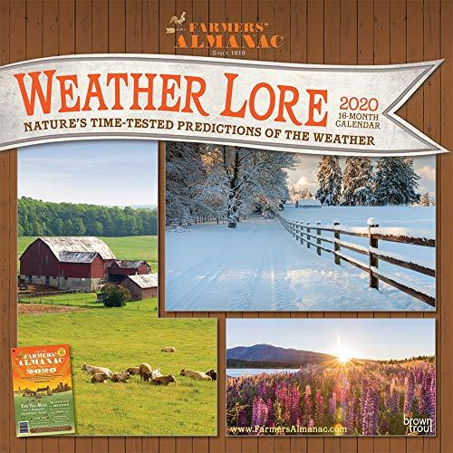 Farmers' Almanac Weather Lore 2020 12 x 12 Inch Monthly Square Wall Calendar, Farm Gardening Health Organic