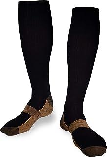 1-4 pares de medias de compresión medias de apoyo para la circulación sanguínea, regeneración, deportes, contra piernas cansadas o hinchadas, antibacteriano