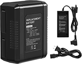 Amityke V Mount/V-Lock Battery 115Wh 7800mAh Vmount Battery Compatible with Sony Video Camera Camcorder Broadcast with wit...