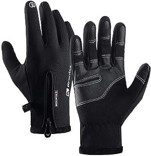 Skidhandskar vinter snö pekskärm handskar vattentäta vindtäta handskar för utomhussport män kvinnor svart storlek L
