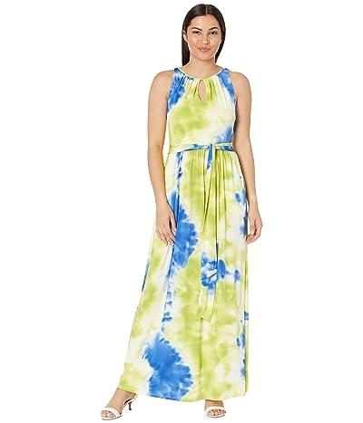 Tahari by ASL Sleeveless Tie-Dye Jersey Maxi Dress