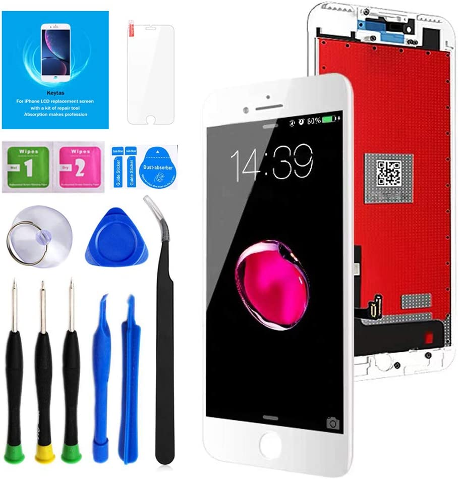 Keytas for iPhone 7 Plus Screen Replacement Kit White 5.5