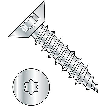 Phillips Drive Pack of 100 #6-20 Thread Size Undercut 82 degrees Flat Head Type AB Steel Sheet Metal Screw 1//4 Length Black Oxide Finish
