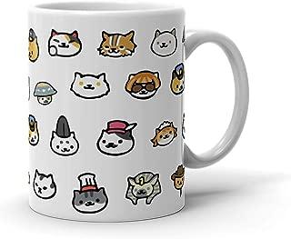 TeeWinter Neko Atsume Cats 11oz White Mug
