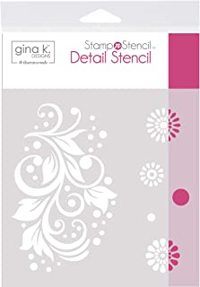 Gina K. Designs for Therm O Web 18126 StampnStencil Crazy Daisy, Detail Stencil, White