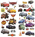 Cars 3D Cartoon pegatinas de pared para dormitorios niños y niñas etiqueta mural Tamaño: Grande