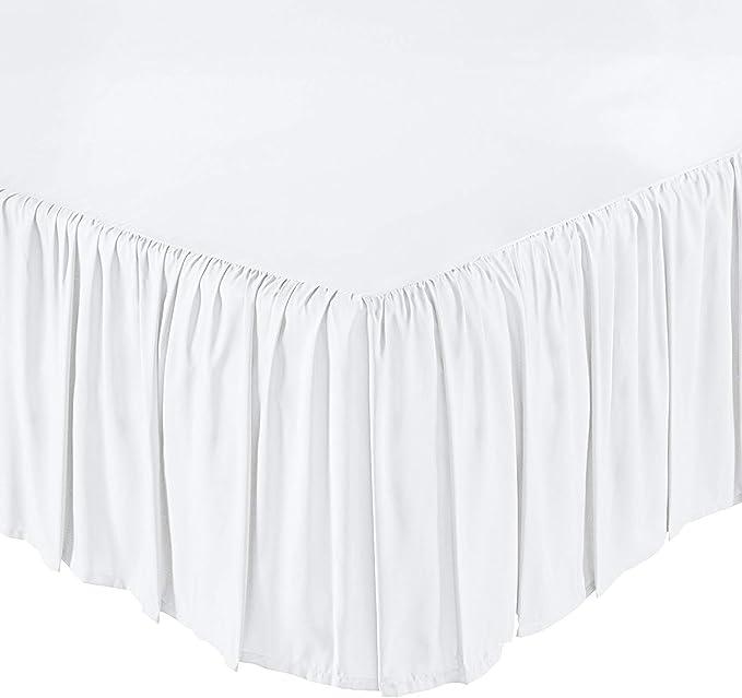 100/% Microfiber Dust Ruffled Bed Skirt Split Corner Queen//King All Size