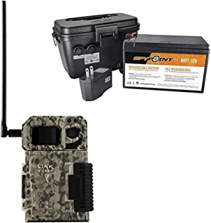 SPYPOINT Link-Micro Cellular MMS Trail Camera USA 4G/LTE (Non-VERIZON) with Rechargeable Battery KIT-12V and Free 2 Year Warranty Deluxe Trail Camera Package(4G Camera, 12V Power Kit)