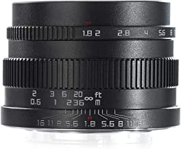 Serounder 22mm f/1.8 Large Aperture APS-C Ultra Wide Angle Lens for Fuji X-Mount for Sony E Mount DSLR Camera/Mirrorless Camera(Black for Fuji X-Mount)