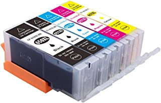 Myink Compatible Canon 650xl 651xl Ink Cartridges, PGI-650 XL Cli-651 XL Ink Replacement for Canon PIXMA MG5460 MG5560 MG6...