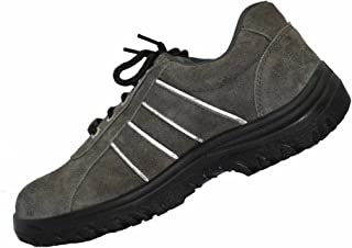 Aktion Safety Genuine Leather Shoes SA-1201 - Size 7, Grey
