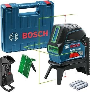 Bosch Professional korslinjelaser GCL 2-15 (grön laser, med lodpunkter, arbetsområde: 15 m, 3 x 1,5 V-batterier, roterande...