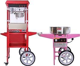 Kukoo - Machine à Pop-Corn de 8oz et Machine à Barbe à Papa avec Chariots
