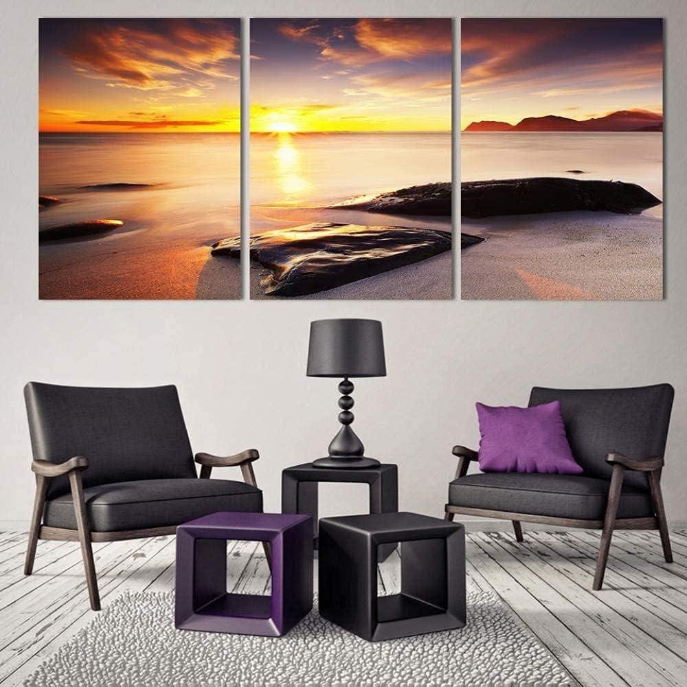3 Pieces Canvas Prints Wall Art3 Blue Seascape Piece Inexpensive half Oc Art