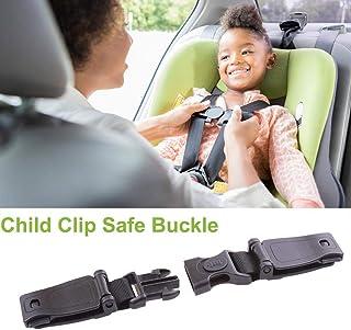 SupplyEU coche beb/é asiento de seguridad correa cintur/ón arn/és pecho ni/ño Clip Hebilla Cierre Nailon negro