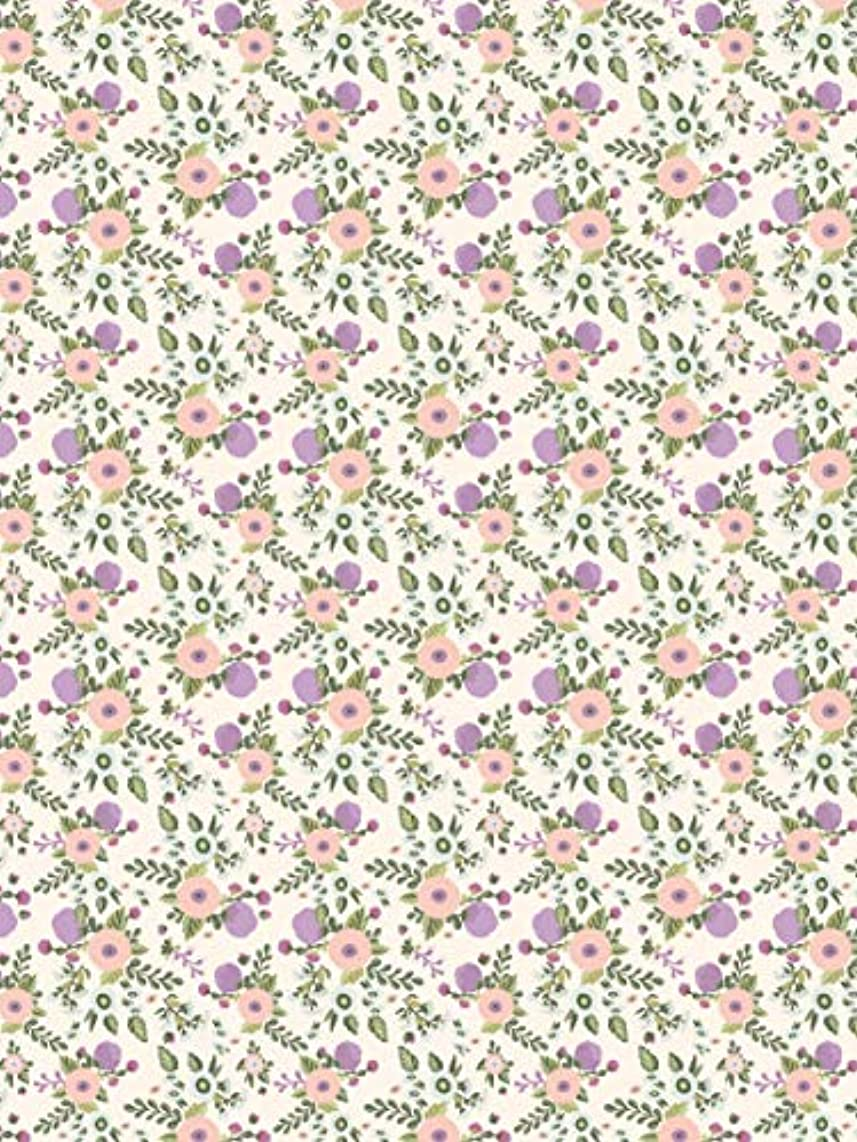 Decopatch Paper No. 739 Pack of 20 Sheets (395 x 298 mm, Ideal for Your papermaches) Purple Flowers
