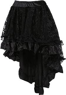 Gótico Steampunk Encaje asimétrico alta baja corsé falda ourfit