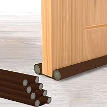 XENWEN Door Seal/Door Bottom Sealing Strip/Under Door Twin Draft Stopper/PVC Sound-Proof Reduce Noise Energy Saving Weather Stripping/Door Stopper/Door Closers/Waterproof – 39 inch (Brown)