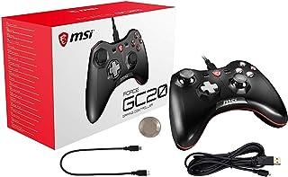 MSI Force GC20 - Joystick Gaming USB per Windows e Android - Colore Confezione: Bianco/Rosso
