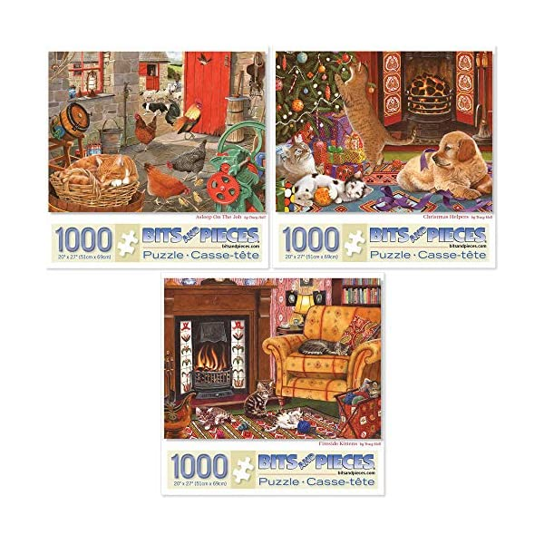 Bits and Pieces – Value Set of Three (3) 1000 Piece Jigsaw Puzzles for Adults...