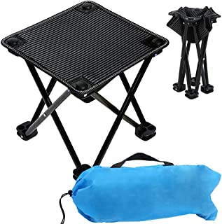 VeMee Compact Camp Stool, Mini Folding Stool, Folding Camping Stool, Folding Ultralight Portable Mini Outdoor Chair for Camping Fishing Hiking Picnic Gardening Beach Backpacking with Carry Bag