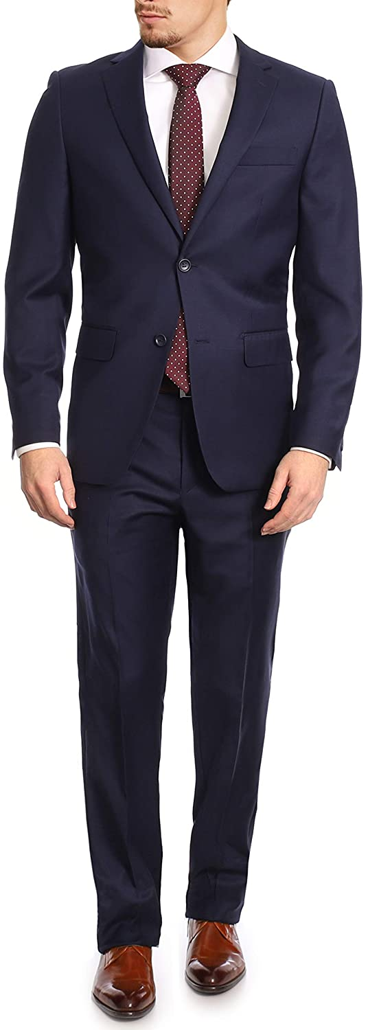 Mens Classic Fit Two Button Wool All items free shipping Piece Bargain sale 2 Suit 100%