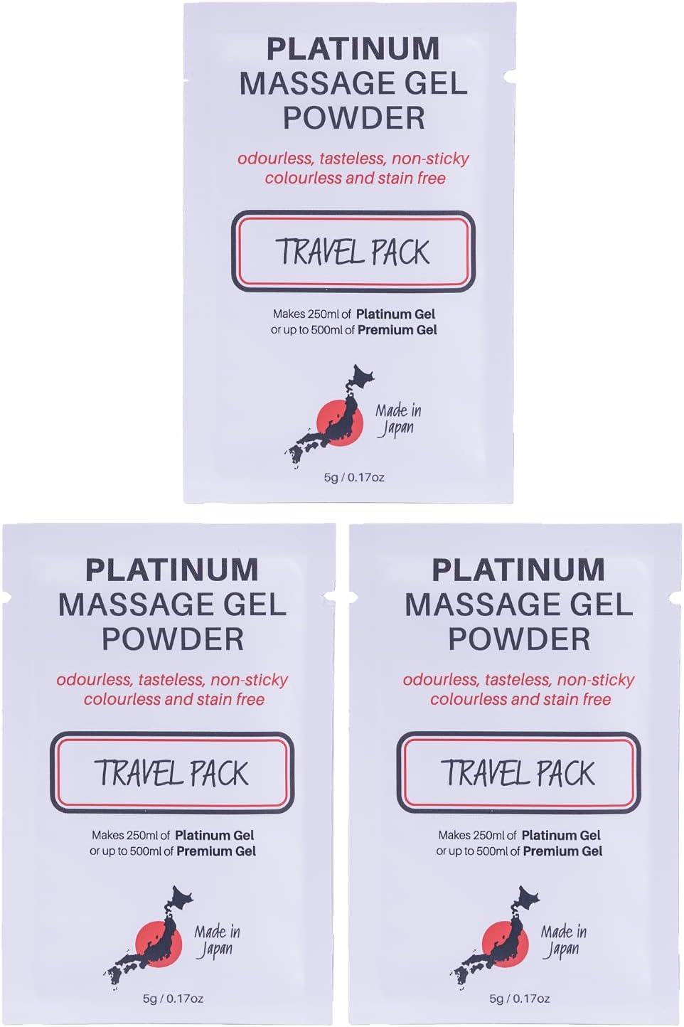 3 x Premium Super intense SALE Nuru Massage Gel Sachet Popular overseas Makes 500 Travel 5g Powder
