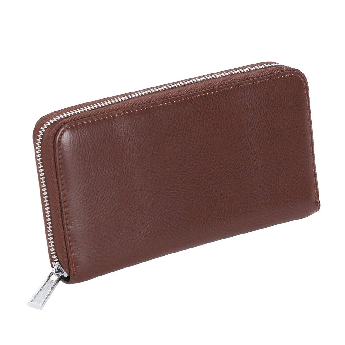見落とす意欲クリスマスJOKnet スキミング防止 大容量 じゃばら カードケース メンズ レディース クレジットカード 財布 レザー 牛革