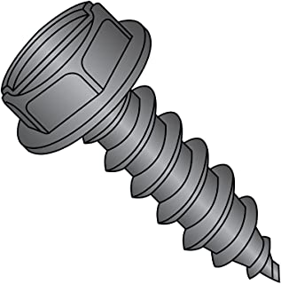 Type A Slotted Drive Zinc Plated Steel Sheet Metal Screw 1-1//4 Length Pack of 50 Hex Washer Head #14-10 Thread Size