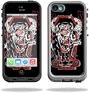 MightySkins Protective Vinyl Skin Decal Compatible with LifeProof iPhone 5C Case fre Case wrap Cover Sticker Skins Crackula