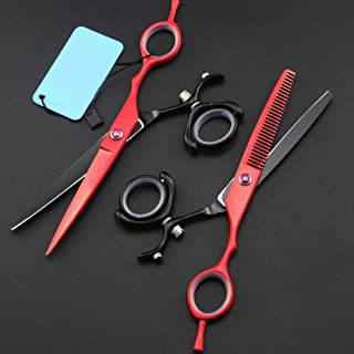 Sharp Hair Cutting Set Stainless Steel Hair Cutting & Thinning Scissors Shears Thinning Scissors for Barbers or Home Use,W...