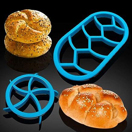Pan francés, grano, sello, redondo, ovalado, casero, pastel, molde