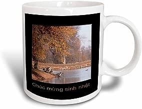 3dRose At The Lake, Chuc Mung Sinh Nhat, Happy Birthday in Vietnamese, Magic Transforming Mug, 11-Oz