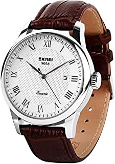 Mens Quartz Watch, Roman Numeral Business Casual Fashion...