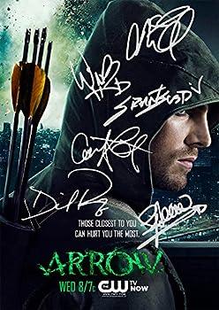 Arrow TV Series Print - Cast Stephen Amell Grant Gustin Caity Lotz David Ramsey Willa Holland Katie Cassidy  11.7  X 8.3