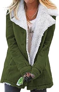 Sponsored Ad - Happy Sailed Women's Lapel Sherpa Fleece Lined Denim Jacket Winter Button Down Warm Coat Outerwear S-2XL