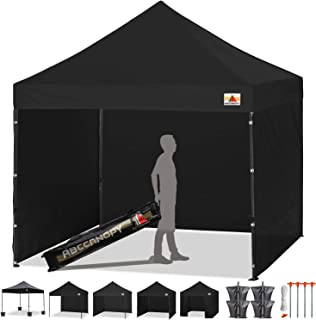 ABCCANOPY Pop-up Canopy Tent 8x8 Commercial Instant Tents Outdoor Canopies Easy to Set Up with 3 Side Walls and 1 Door Wall,Bonus Roller Bag, 4 Sandbags and Stakes(30+ Multi Colors)