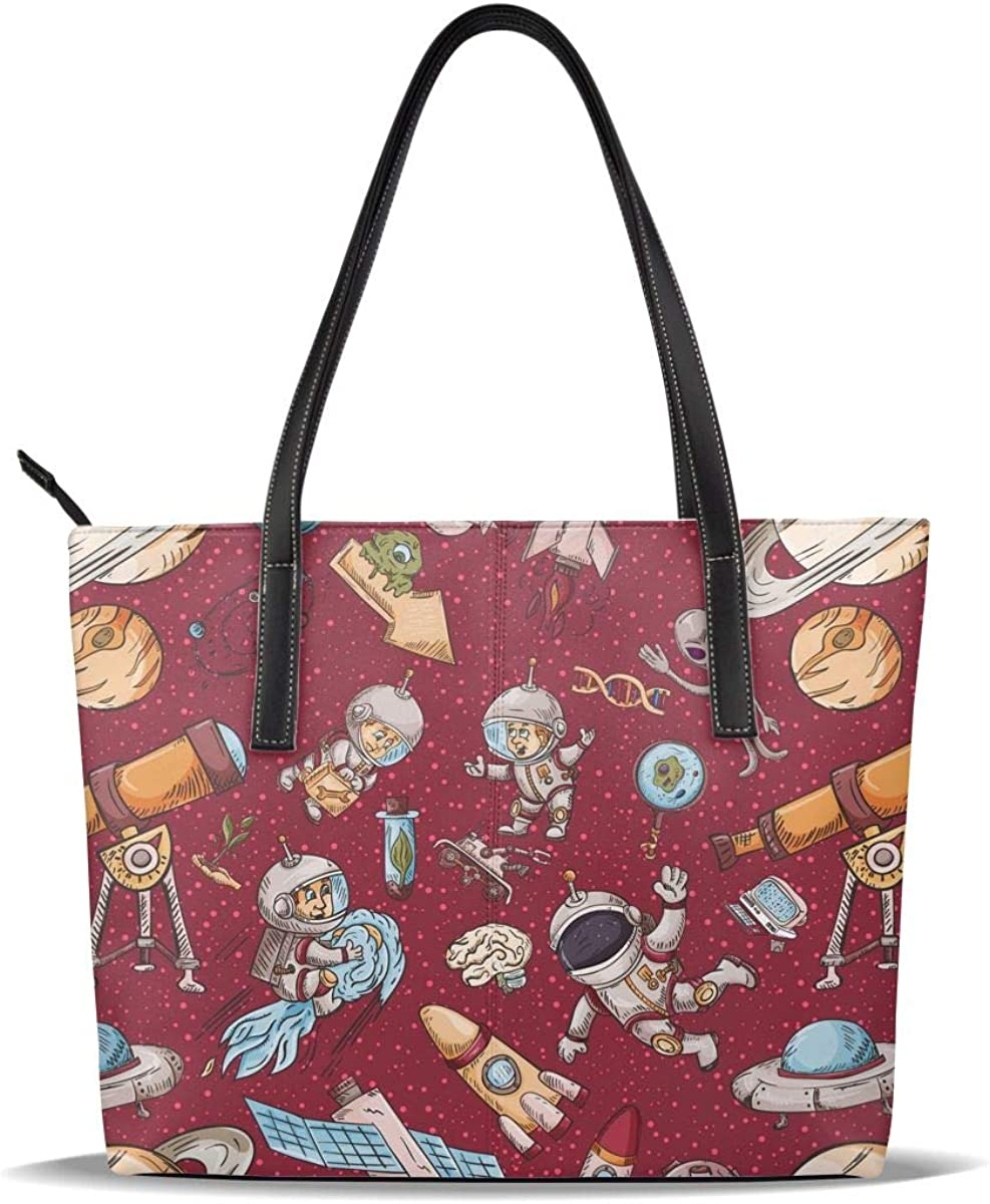 Red Astronaut Art Cheap mail order shopping Zombies Cute half Casual Pattern Leather PU Printed