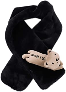 Kids Scarf Wrap Winter Warm Plush Neck Warmer Cute Cartoon Fashion Scarf for Boys Girls Outdoor Sports Ski Cold Weather
