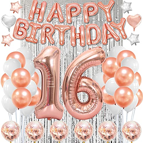 Sweet 16 Birthday Decorations Happy 16th 16 Decorations Sweet 16 Balloons For Girls