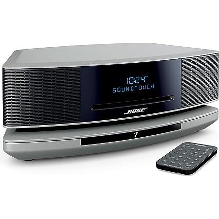 Bose Wave SoundTouch music system IV CDプレーヤー・ラジオ Bluetooth, Wi-Fi接続 リモコン 36.8cm(W) x 10.9cm(H) x 22.1cm(D) 4.0kg Amazon Alexa搭載 プラチナムシルバー