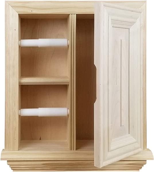 Wood Cabinets Direct Havana Toilet Paper Holder Unfinished Pine
