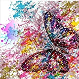 DIY 5D Diamond Painting by number Kits,Pittura diamante 5d fai da te, multicolore Butterfly/Farfalla Full drill strass ricamo a punto croce PICTURES Arts Craft for home Wall Decor, 30 x 30 cm