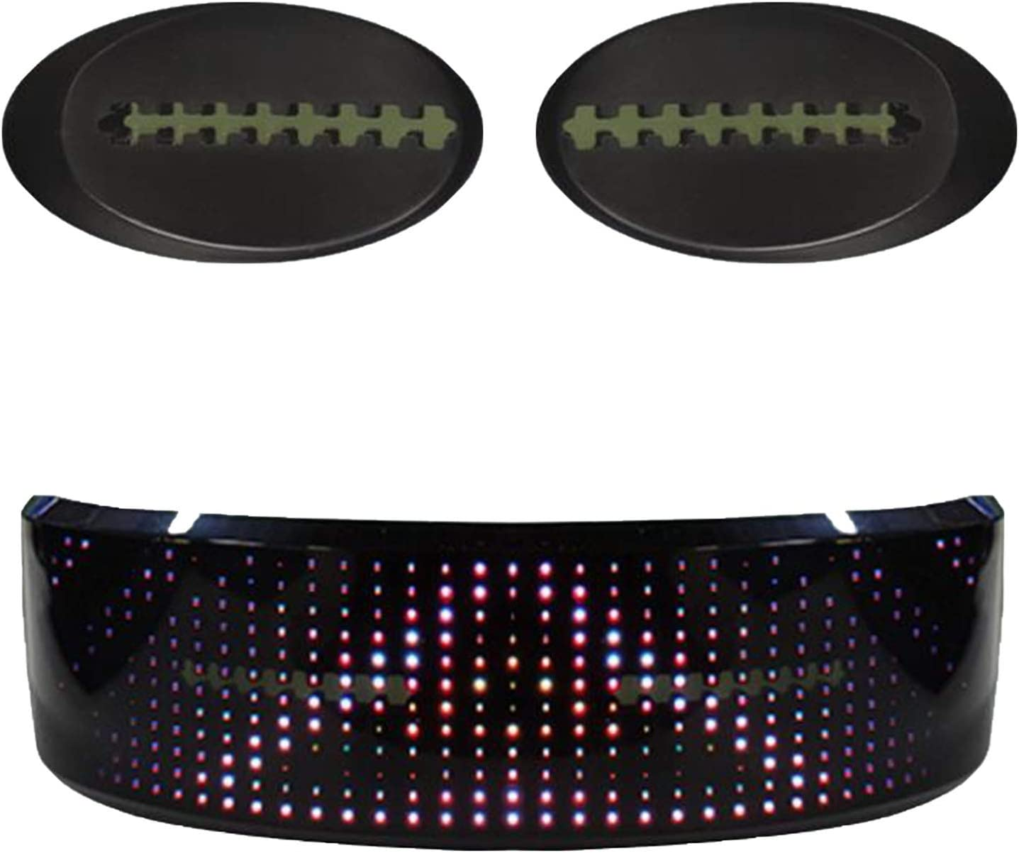 Partyzubeh/ör Musikfestivals KEBEIXUAN LED Brille f/ür Partybevorzugungen anpassbare Bluetooth-LED-Blitzbrillen Vierfarbig wiederaufladbare USB-LED-Brillen f/ür Raves Nachtclubs